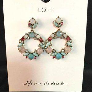 Ann Taylor Loft Stone Wreath Drop Earrings